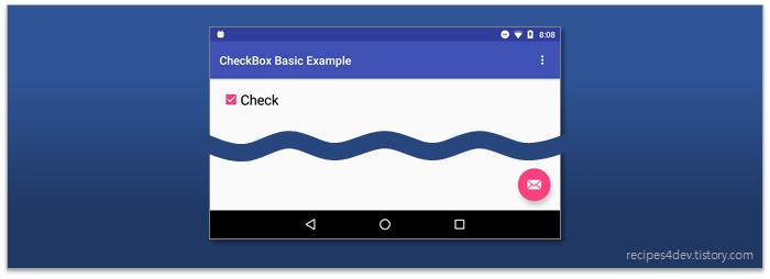 CheckBox 기본 선택 화면