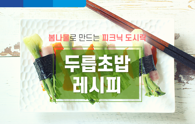 봄나물로 만드는 도시락! 두릅 초밥 레시피