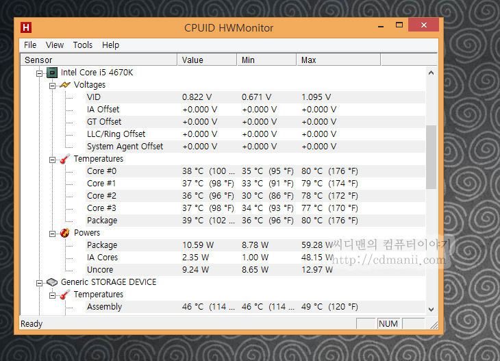 CPU 온도 측정 프로그램, HWMonitor, HWMonitor 다운로드, IT, CPU 온도, CPU 온도 측정 프로그램 HWMonitor 다운로드 및 사용방법을 알아보도록 하겠습니다. 개인적으로는 이 프로그램이 사용방법도 간단하고 실행도 편해서 자주 쓰고 있습니다. 오버클러킹 확인 프로그램으로도 많이 사용이 됩니다. 부하를 걸어놓고 CPU 온도 측정 프로그램인 HWMonitor를 사용하면 되죠. 이 프로그램 외에 Core Temp도 있지만 이 프로그램이 좀 더 간단하면서도 정보가 더 많이 나옵니다. CPUID에서는 쓸만한 시스템 유틸리티를 참 많이 만드네요. HWMonitor 프로그램은 구글에서 검색해야 바로 받기 주소가 나타나네요. 설치형과 포터블 두가지가 있는데 바로 실행버전을 저는 소개해보겠습니다. 그냥 받고 실행하면 됩니다.