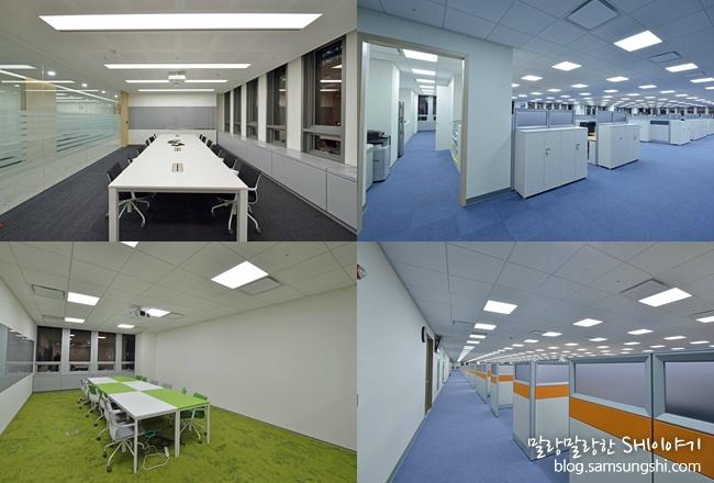 직원들이 근무하는 사무실과 회의실 모습