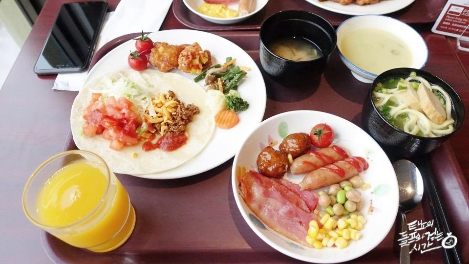 오키나와호텔 호텔조식 일본호텔 베셀캄파나호텔 Vessel Hotel Campana Okinawa 류큐왕국 아메리칸빌리지