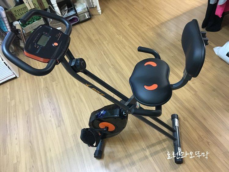 집에서 하는 유산소운동(실내 자전거 타기) 1
