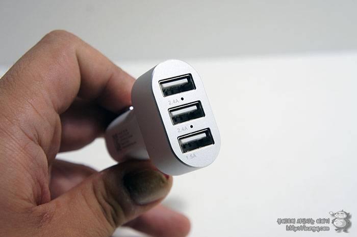 차량용 초고속 충전기, 와사비망고, 차져EQ , 3포트, USB 충전기, 전압