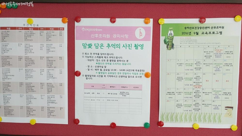송파산모건강증진센터 산후조리원 이용 후기, 엄마가 되기 위한 준비과정