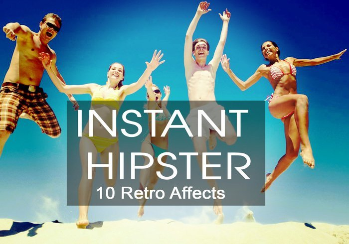 10 가지 인스턴트 힙스터 레트로(instant hipster retro) 포토샵 액션 - 10 Free Instant Hipster Retro Photoshop Action