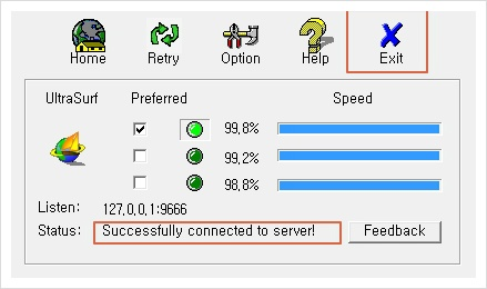 Successfully connected to server
