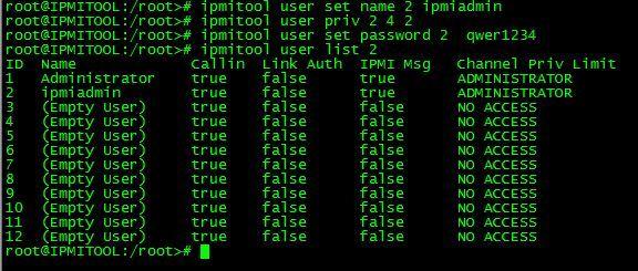 IPMITOOL PKG로 설치 및 네트워크 및 유저 설정 (CENTOS 6) 기준
