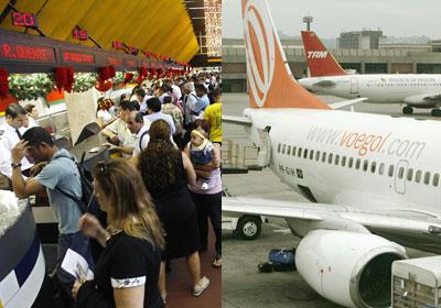 정시 이륙율 최악 3,4위 공항 : 브라질의 꽈룰로스(GRU),  꽁꼬냐스(CGH)