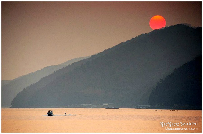 8월 10일, 통영 무전동 일몰 사진