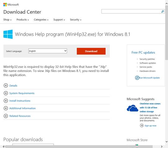 winhlp32.exe gratuit