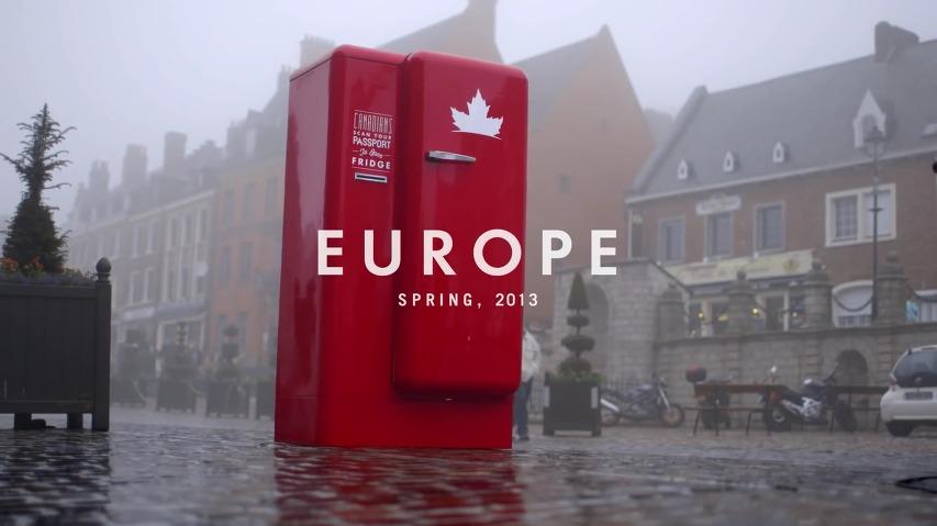 캐나다 여권을 인식시키면 맥주가 가득찬 빨간 냉장고가 열린다! 몰슨 캐내디언 맥주(Molson Canadian Beer)가 유럽 곳곳에 놔둔 빨간색 맥주 냉장고(The Beer Fridge) - 당신의 여권을 스캔하세요(Scan Your Passport) [한글자막]