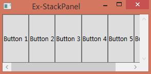 StackPanel 사용 예제 실행 화면