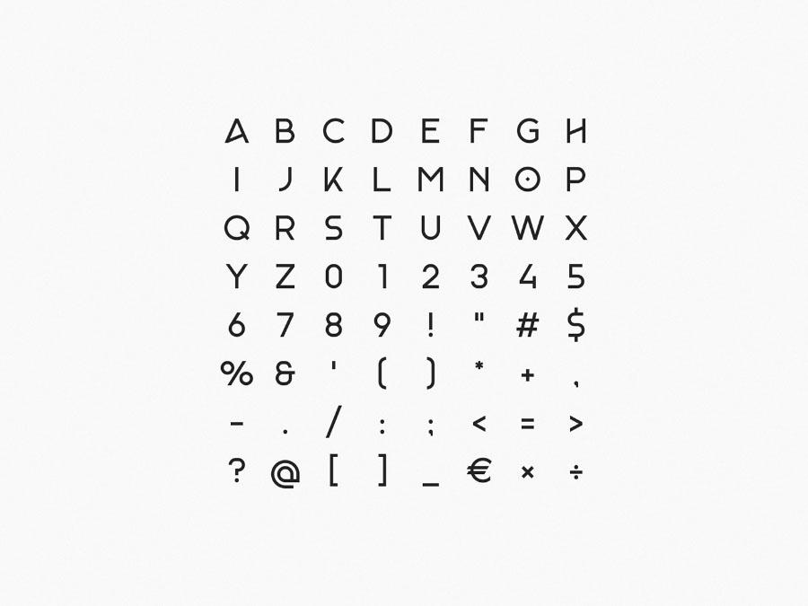 기하학적이고 우아한 무료 영문 폰트 Monad Display Free Typeface