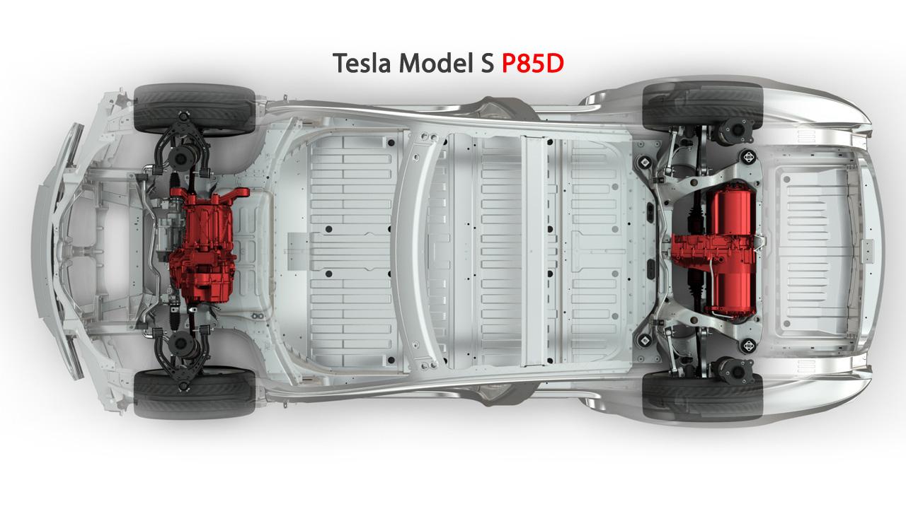 테슬라 모델 S 듀얼 모터 AWD 플로어팬