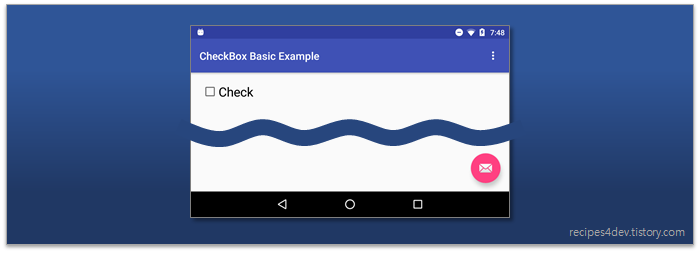 CheckBox 표시 화면