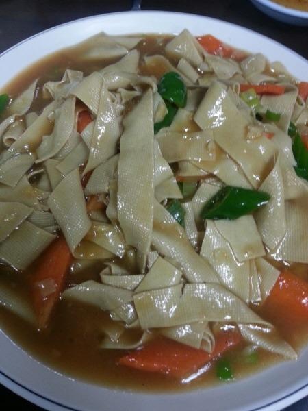 중국 건두부 요리