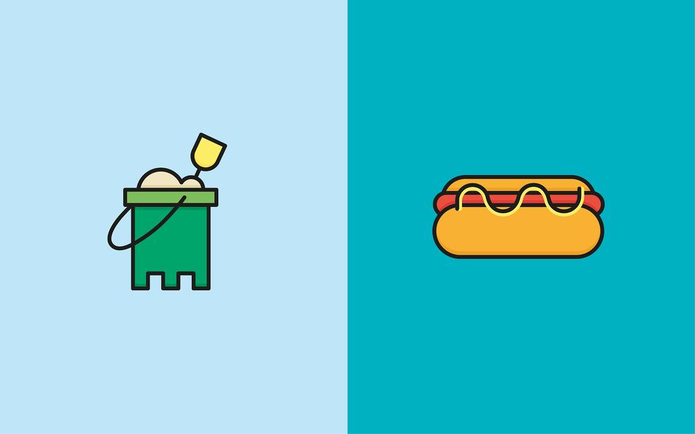 48 가지 무료 벡터 여름 컬러/라인 아이콘 - 10 Free Vector Summer Color/Line Icons