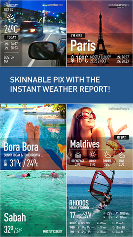 InstaWeather Pro 아이폰 날씨와장소 공유