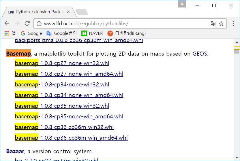 install matplotlib basemap pip