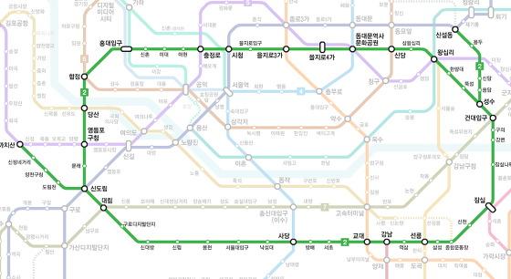 [SKT LTE-A] 갤럭시 S4 LTE-A 지하철 2호선 주요 역사 LTE-A 속도 측정