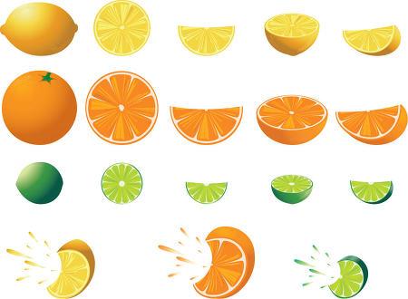 무료 과일 아이콘 클립아트 오렌지 레몬 라임