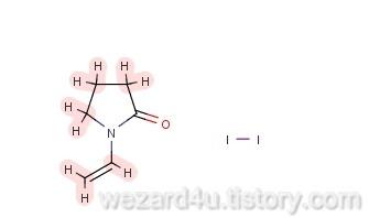 포비돈-아이오딘(Povidone-iodine) 분자식