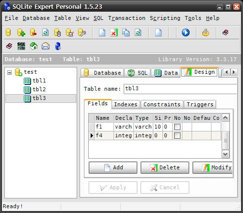 SQLite Expert Personal Edition