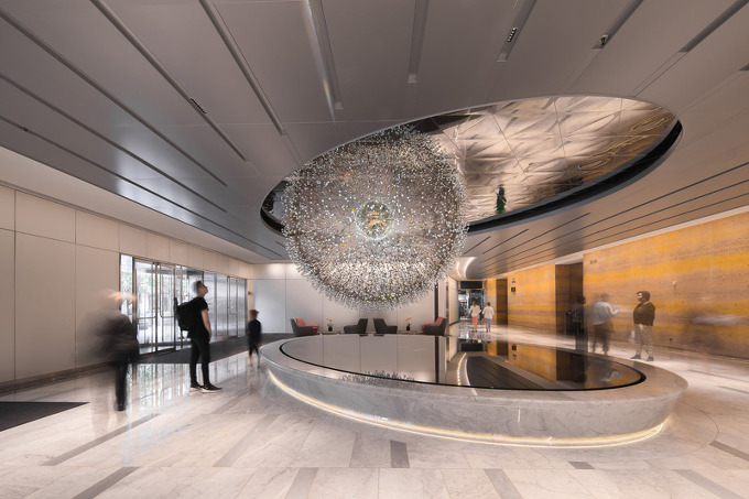 3000개 유리구슬 This Sculpture In Chicago Is Made From Over 3000 Hand Blown Glass Orbs