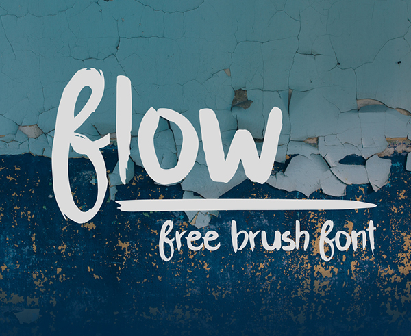 Flow – Free Brush Font