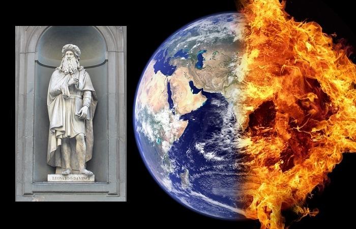 사진: 왼쪽은 레오나르도 다빈치 석고상. 르네상스 3대 화가이며 최후의 만찬으로 유명하며, 각종 발명 천재로도 유명하다. [지구 지축 이동설(극이동설)이란?]