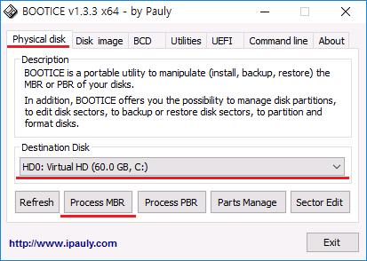 BOOTICE Ubuntu GRUB Remove Legacy
