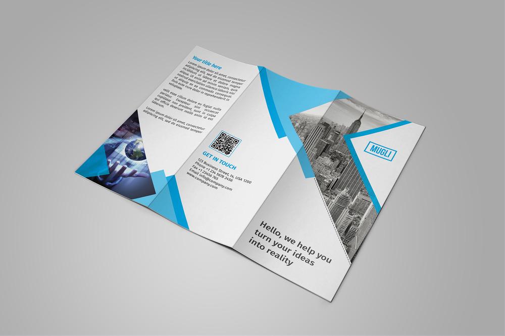무료 3단 접지 브로셔 PSD 템플릿 - Free PSD Tri-Fold Brochure / Flyer Template