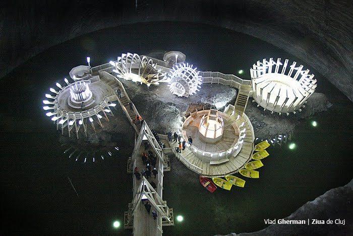 루마니아의 소금광산을 테마파크로- 살리나 투르다(Salina Turda)