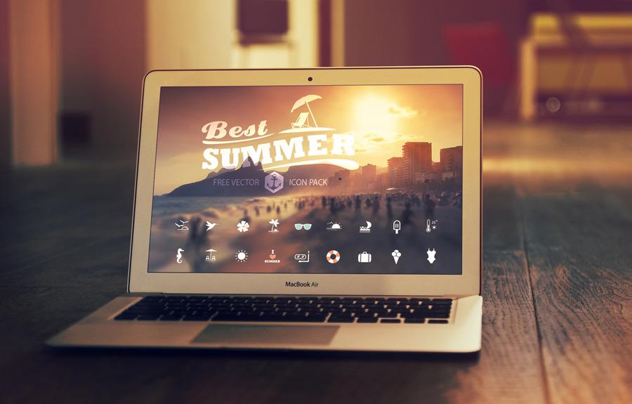 36 가지 무료 벡터 여름 아이콘 - 36 Free Vector Summer Icons