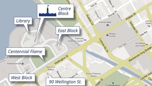 캐나다 국회의사당 구글맵 (Parliament of Canada google map)
