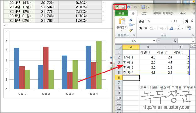 MS 워드 차트, 그래프 삽입과 표 데이터 차트에 적용하기