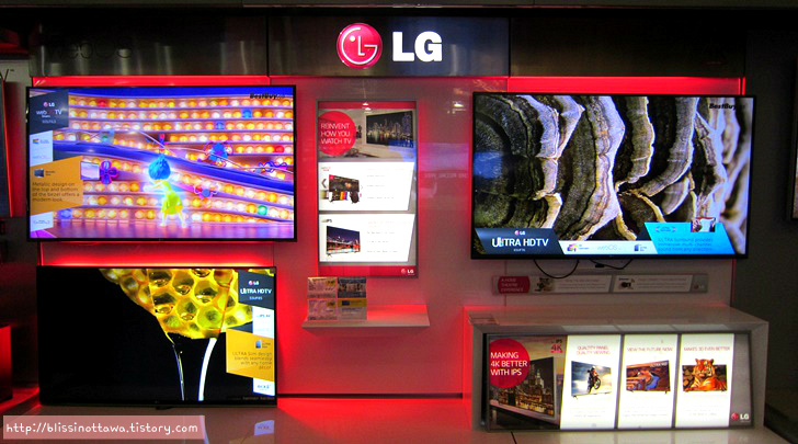 미국 캐나다 BEST BUY LG UHD TV