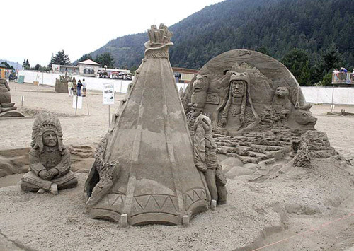 모래로 만든 예술작품 11