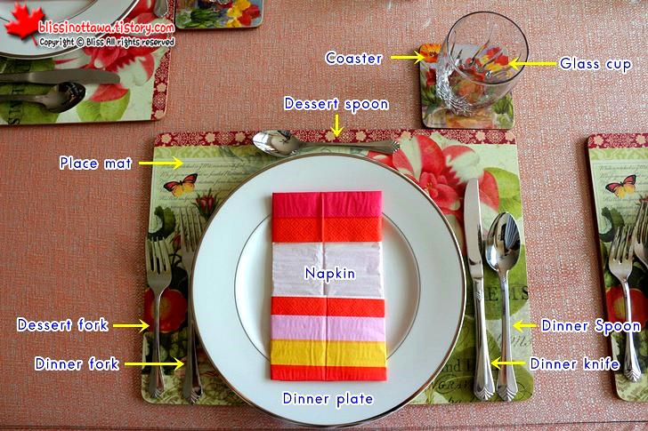 캐네디언 손님 초대상 차리기와 양식 테이블 세팅법