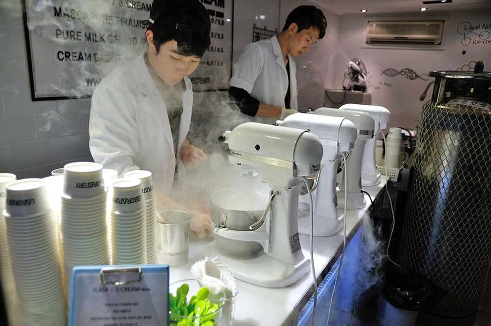 [부산/남포동] FLASK Liquid Nitrogen Icecream