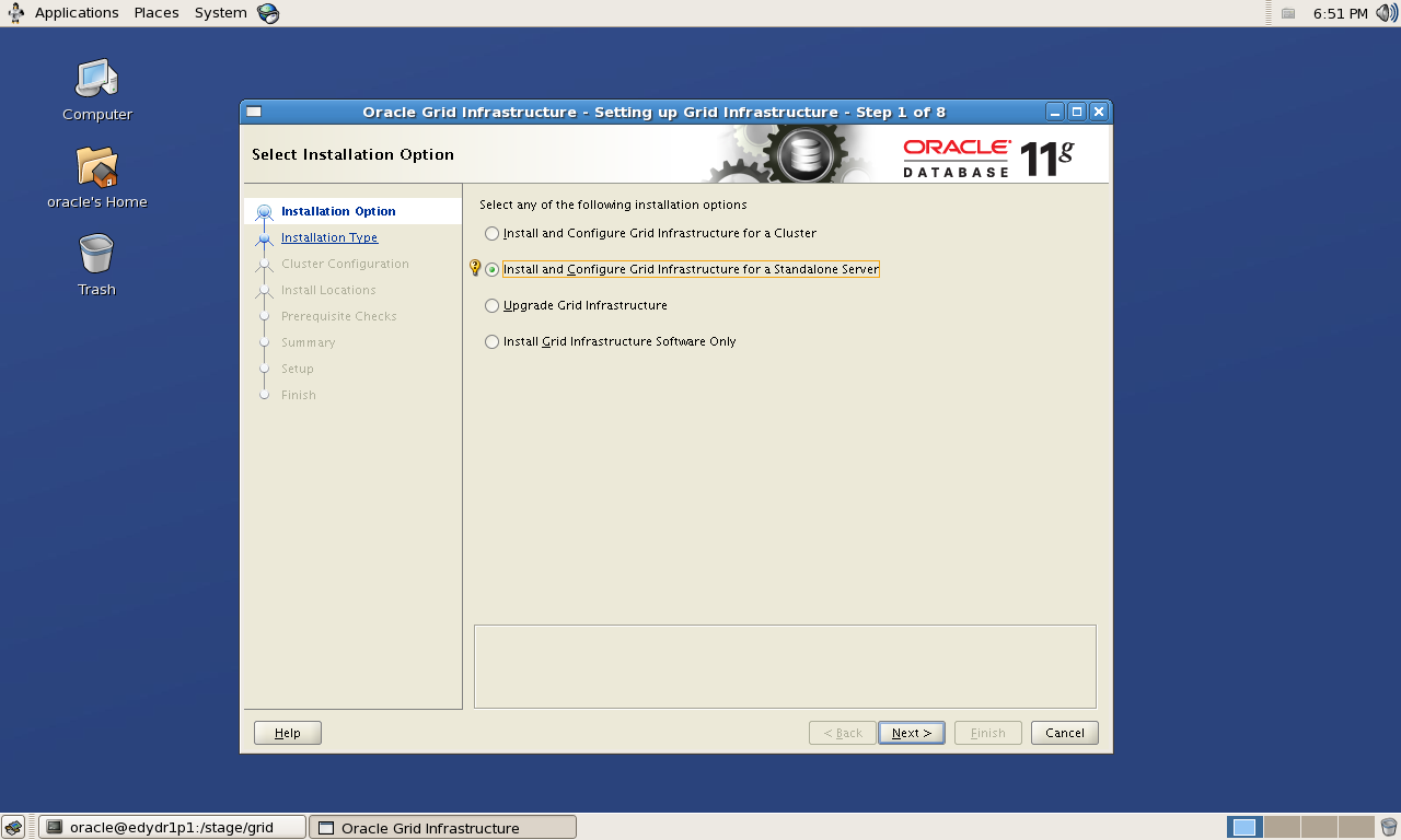 Grid Infrastructure & Oracle Database 11gR2 설치