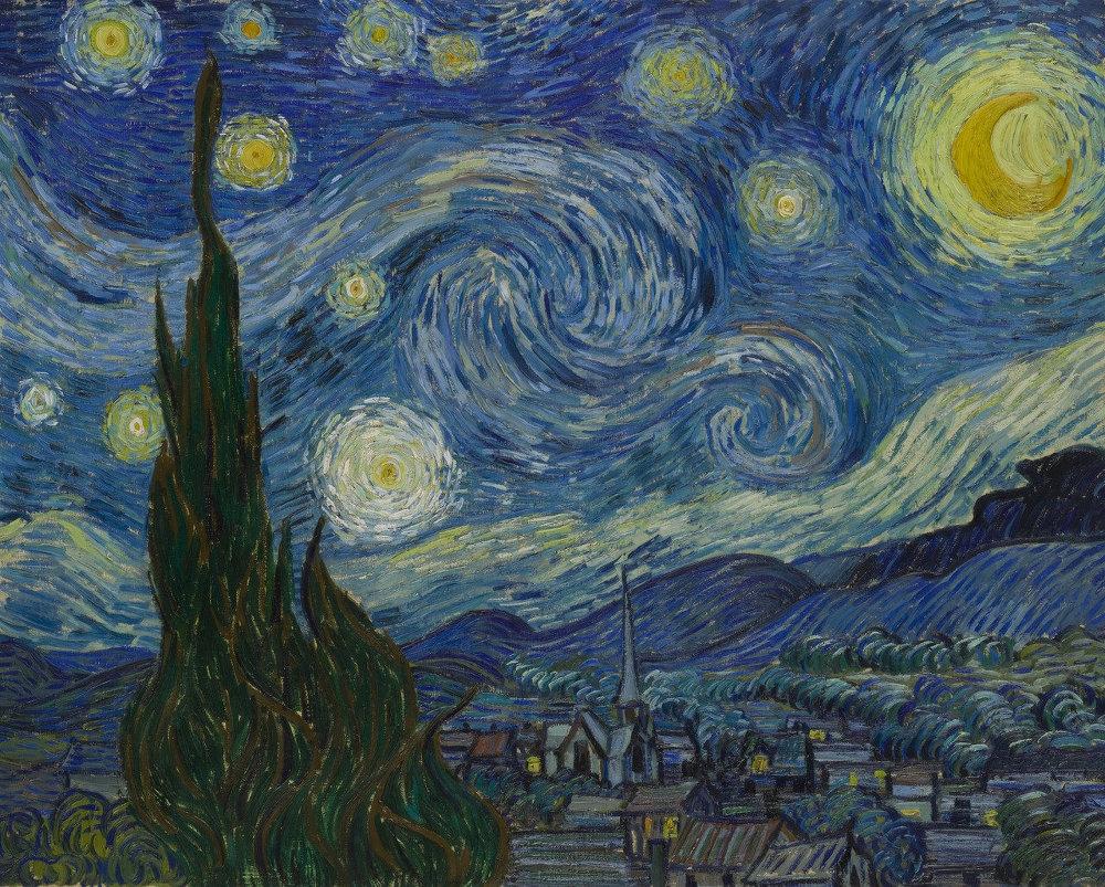 유명 화가들의 예술작품에서 추출하는 어울리는 색조합 사이트 Color Lisa_vincent van gogh_빈센트 반 고흐_the starry night