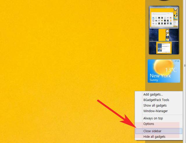 윈도우8 8.1 가젯 위젯 사용 설치하는 방법