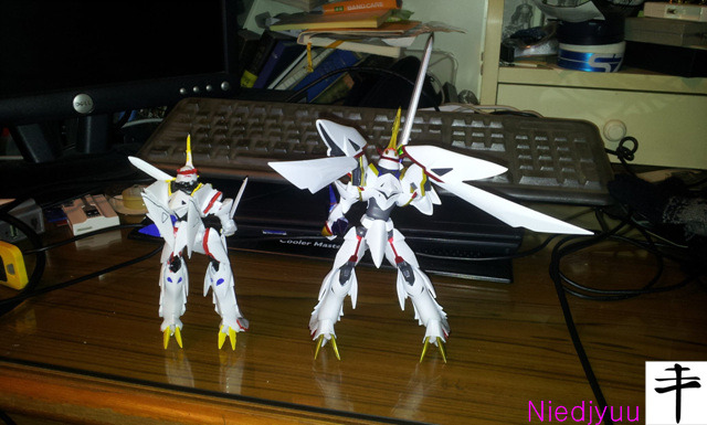 Kaiser fire back wing_megahouse vs bandai