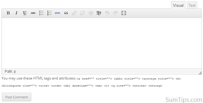 워드프레스 RIch-text 코맨트 플러그인
