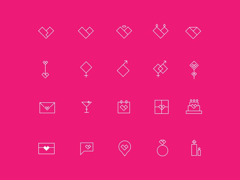 20 가지 발렌타인데이 벡터 아이콘 - 20 Free Valentine's Day Vector Icons