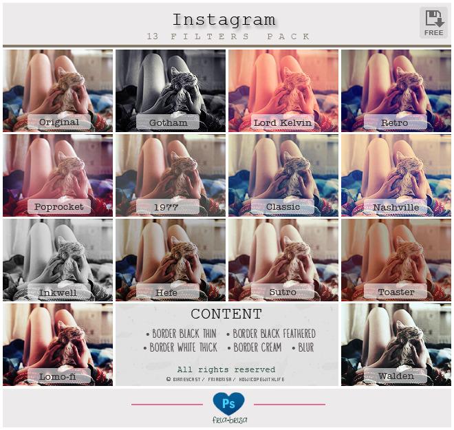 13 가지 포토샵 인스타그램 필터(instagram filter) 액션 - 13 Photoshop Instagram Filter Actions