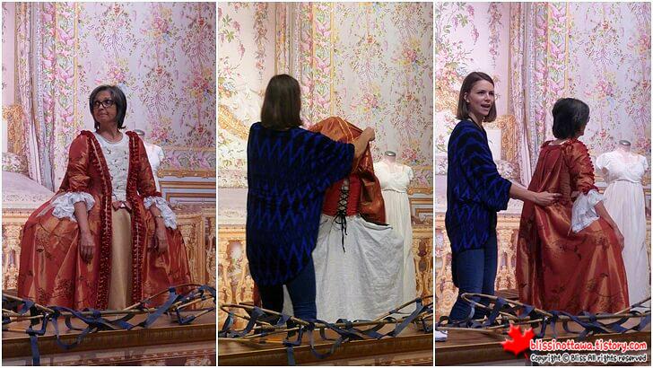 18세기 와토 드레스