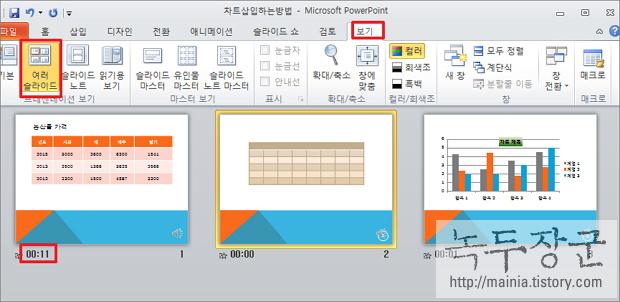 파워포인트 슬라이드 녹화 하는 방법