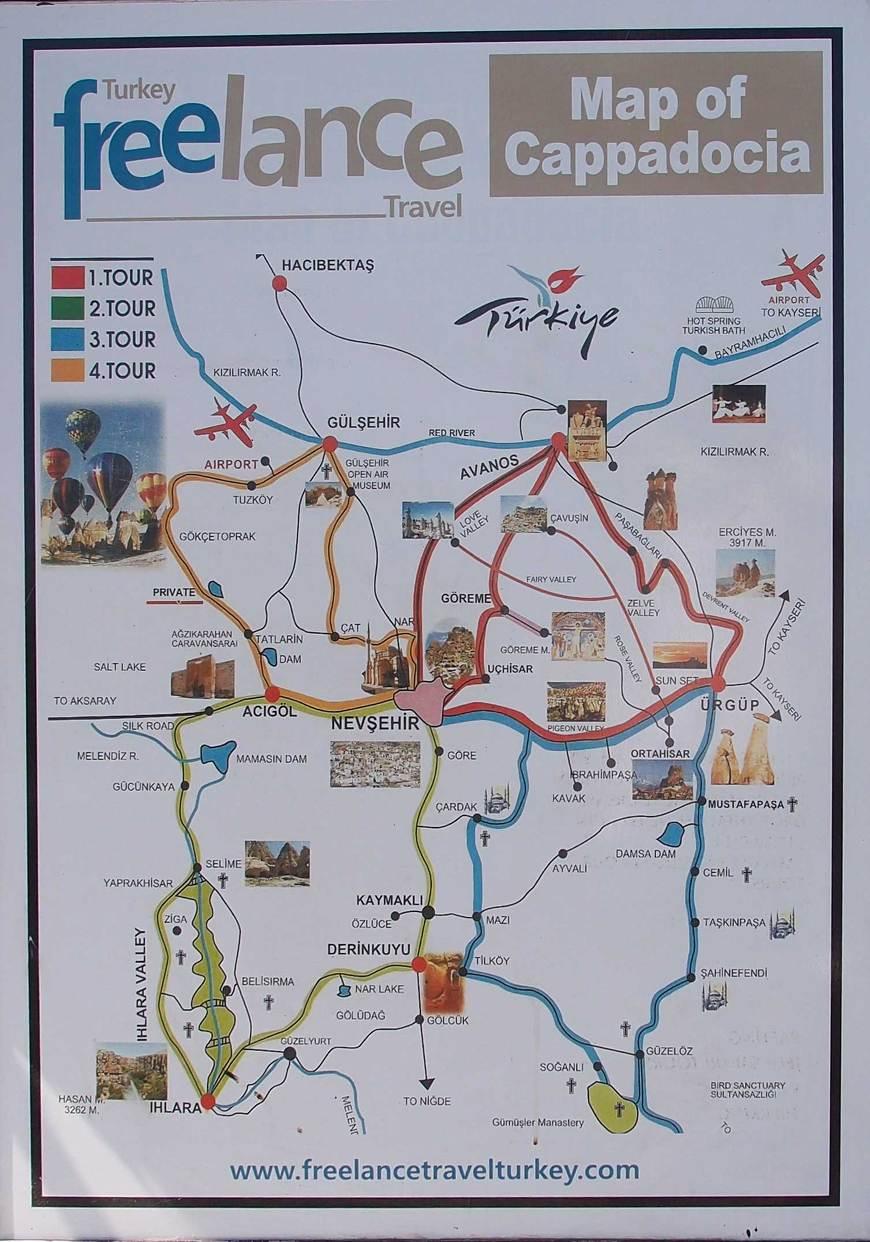 Cappadocia map